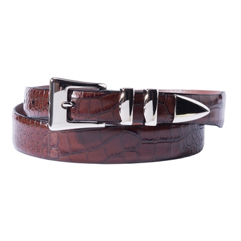 Alligator Embossed Tapered Tipped Belt