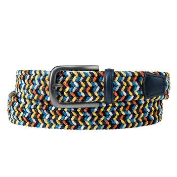 Braided Elastic Belt Navy