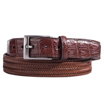 Crocodile Tab Stretch Belt