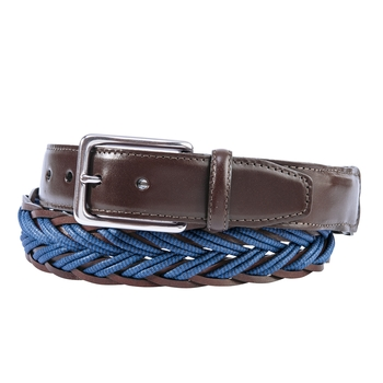 Braided Cotton Cord and Leather Belts