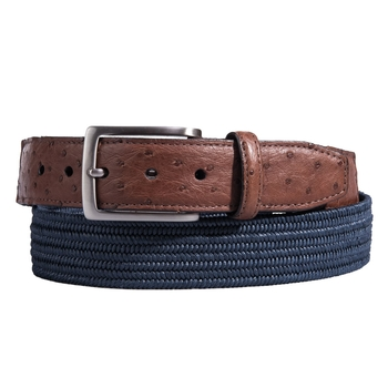 Ostrich Tab Stretch Belt