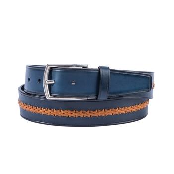 Spanish Calfskin Belt with Braided Stripe