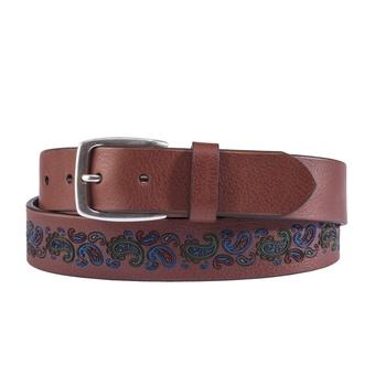 Etched Paisley Belt