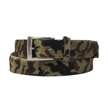 Pony Hair Camo Belt