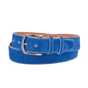 Suede Edge-Stitch Belts