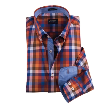 Orange Plaid Shirt by Paul & Shark,