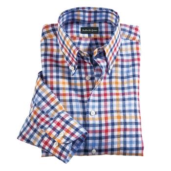 Saratoga Linen Check Shirt