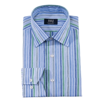 B&J Sartoriale Linen Striped Shirt