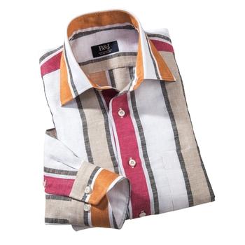 Sartoriale Awning Stripe Linen Shirt