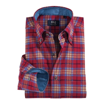 Sartoriale Swiss Plaid Shirt