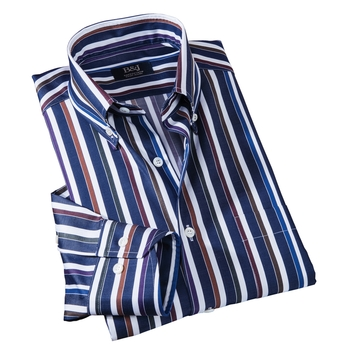 Sartoriale Stripe Button-Down Shirt