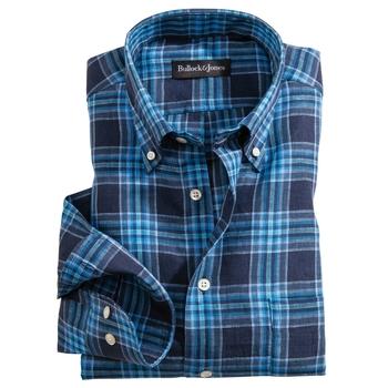 Azul Linen Plaid Sport Shirt