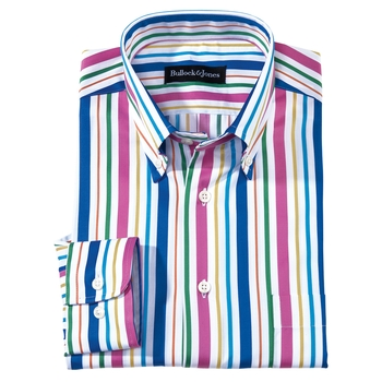 Satin Stripe Sport Shirt