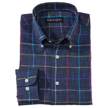 Whitmore Linen Windowpane Check Shirt