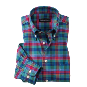Nicholas Oxford Plaid Sport Shirt