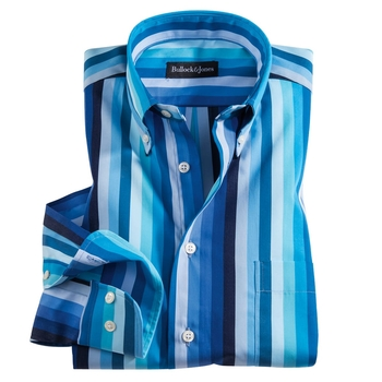 Total Blue Stripe Shirt