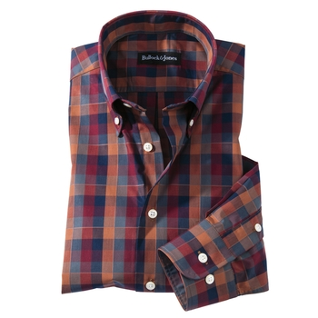 Autumn Hued Check Button- Down