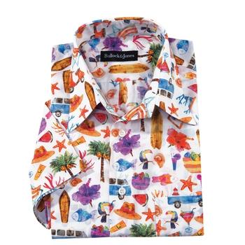 Vacanza Italian Print Shirt