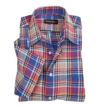 Linen Plaid Sport Shirt