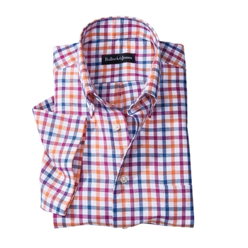 Check Short-Sleeve Button-Down