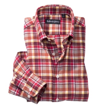 Martin Brushed Twill Plaid Button-Down