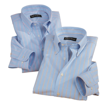 Oxford-Light Stripe Button-Downs