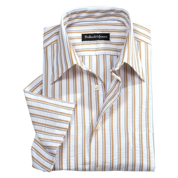 Seersucker Short Sleeve Stripe Shirts