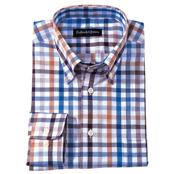 'Del Mar' Multicolor Gingham Sport Shirt