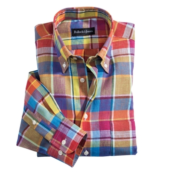 Simply Linen Plaid Shirt
