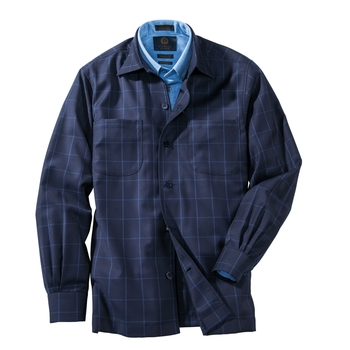 Simon Windowpane Shirt Jacket