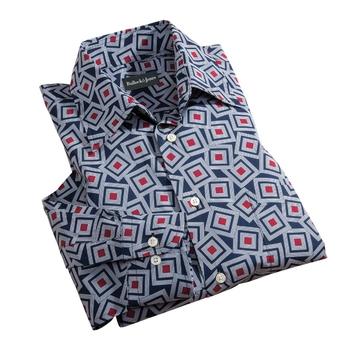 Jumbled Squares Sport Shirt
