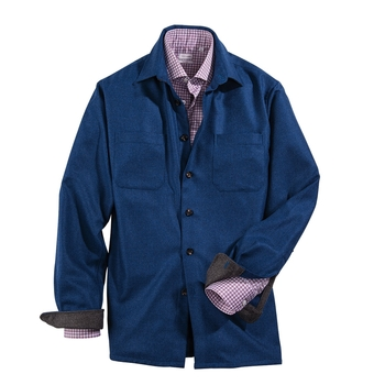 Wool Cashmere Shirt Jacket by Luciano Barbera