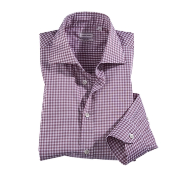 Mini Gingham Check Sport Shirt by Luciano Barbera
