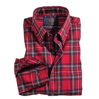 Royal Steward Tartan Cotton Wool Viyella Shirt