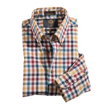 Multicolor Check Cotton Wool Viyella Shirt