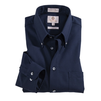 Viyella Solid Cotton Wool Shirt