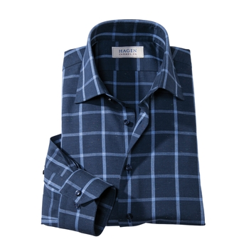 Windowpane Sport Shirt by Hagen of Carmel