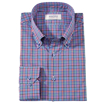 William Micro-Check Shirt by Hagen