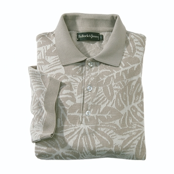 Jacquard Palm Polo