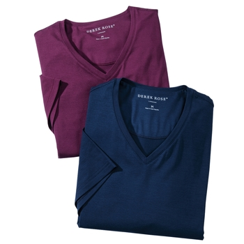 Micro Modal Stretch V-Neck Tees