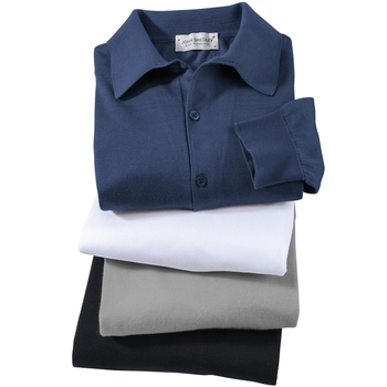Smedley Sea Island Cotton Bradwell Long-Sleeve Polo