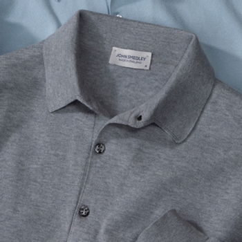 Smedley Sea Island Cotton Bradwell Long-Sleeve Polo