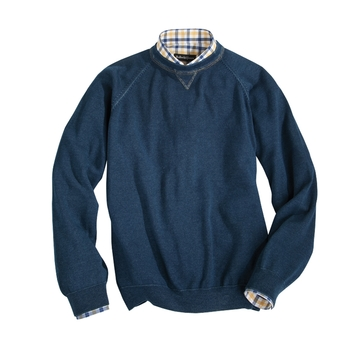 Washed Indigo Cotton Sweatshirt