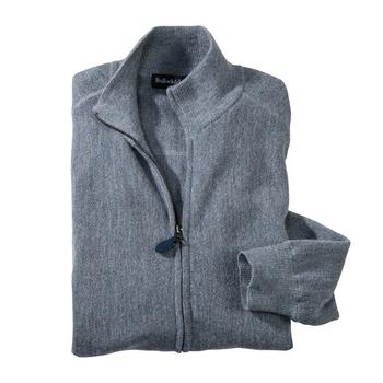 Alpaca Links Stitch Zip Cardigans