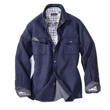 Wool/Alpaca Shirt Jacket