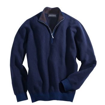 Scottish Cashmere Zip Neck