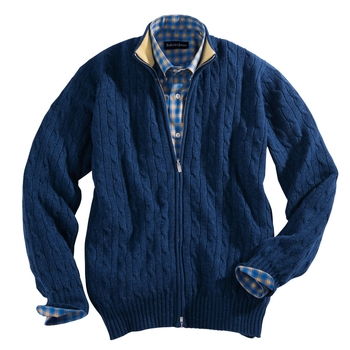 Scottish Cashmere Cable Cardigan