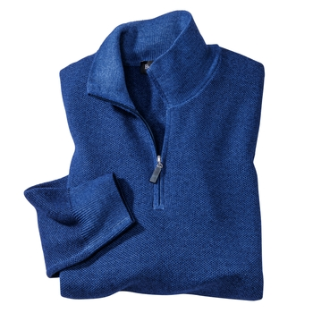 Merino Wool Rice Stitch Quarter Zips