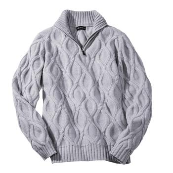 Duncan Cashmere Quarter- Zip Pullover