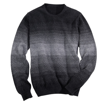 'Pixel' Scottish Cashmere Crewneck